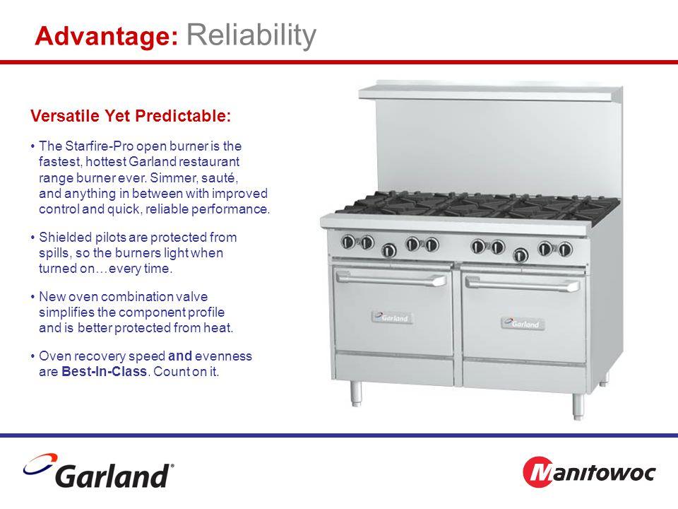 Advantage: Reliability Versatile Yet Predictable: The Starfire-Pro open burner is the fastest, hottest Garland restaurant range burner ever.