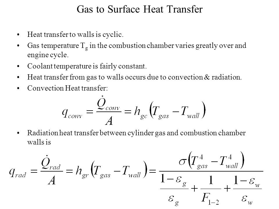 Heat Transfer in Combustion Chambers
