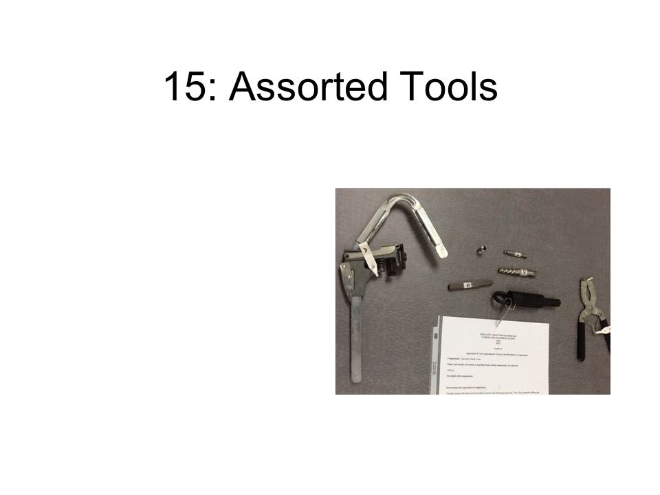 15: Assorted Tools