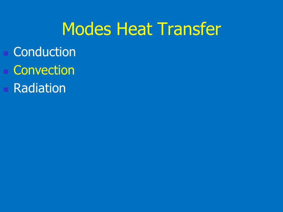 Thermal Dynamics Conduction Convection Radiation