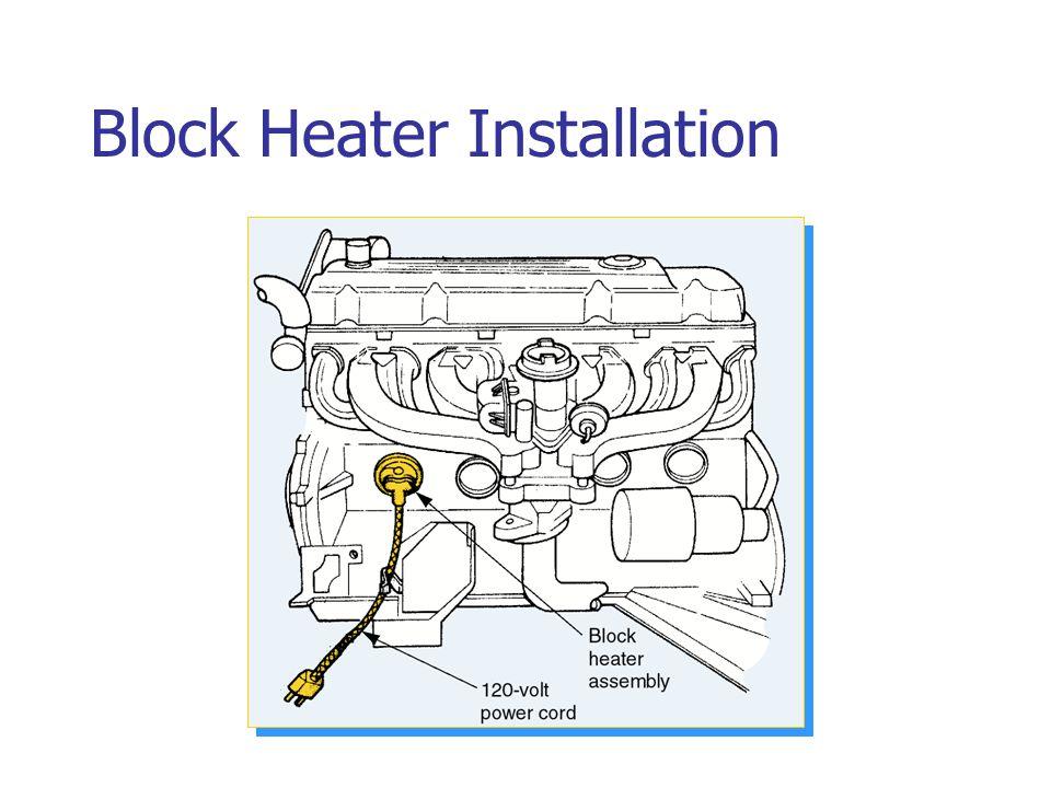 Block Heater Installation
