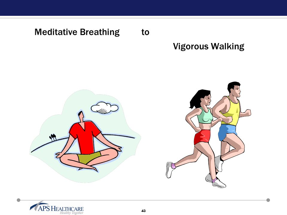43 Meditative Breathing to Vigorous Walking