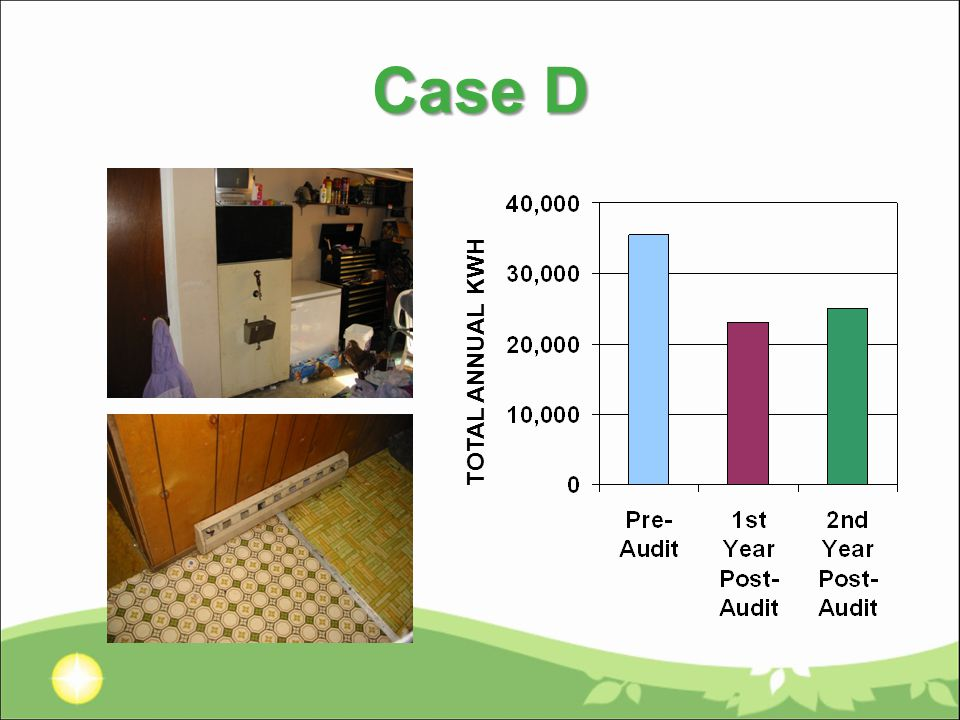 Case D TOTAL ANNUAL KWH