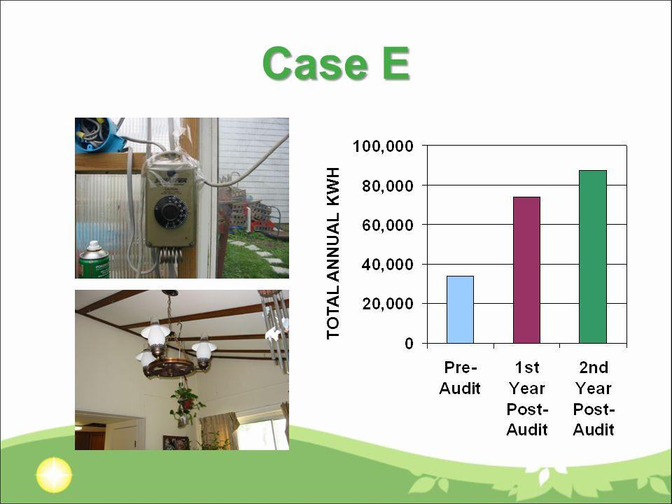 Case E TOTAL ANNUAL KWH