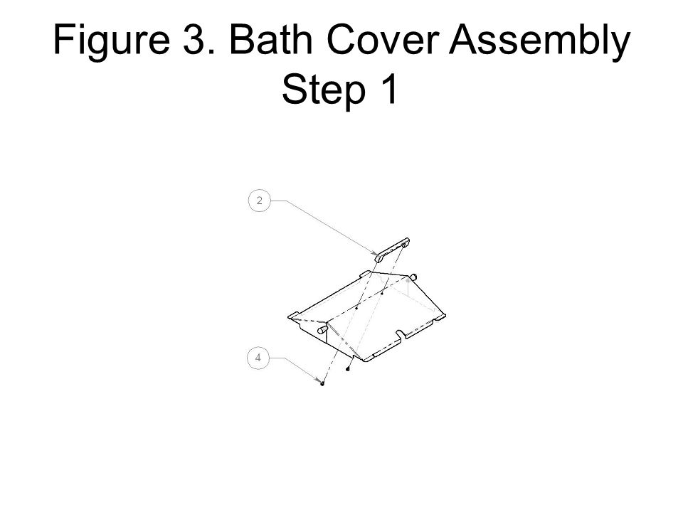 Figure 3. Bath Cover Assembly Step 1