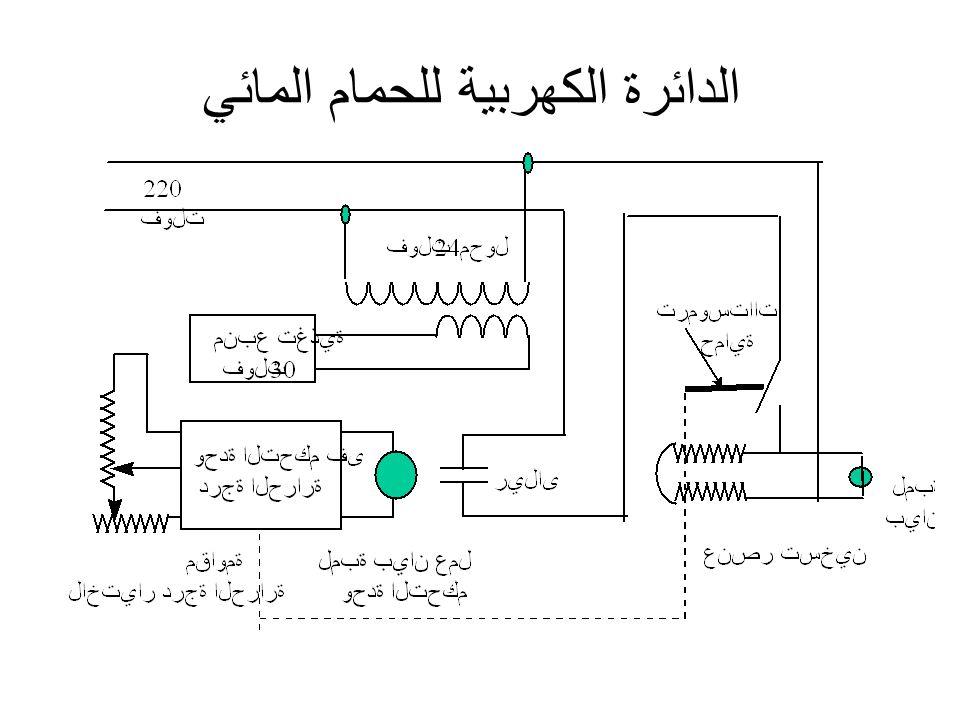 الدائرة الكهربية للحمام المائي