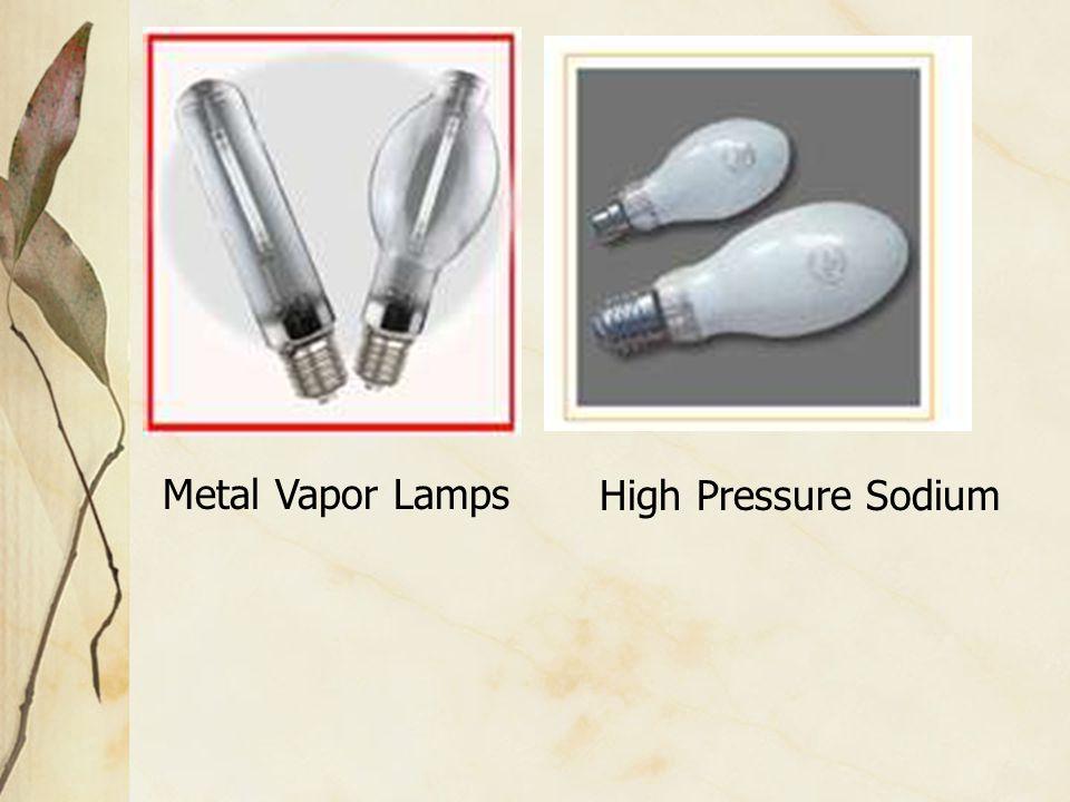 High Pressure SodiumMetal Vapor Lamps