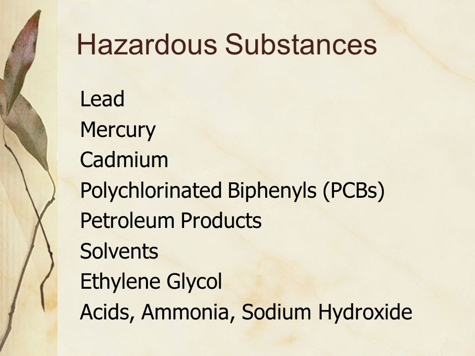 Different Chemicals Move Differently in the Environment Some are VOLATILE - go into air  Benzene, gasoline vapors, solvents Some DISSOLVE IN WATER, move with water  Sugar, salt Some HATE WATER, would rather stay in soil  Oil, DDT, PCBs Some break down quickly in environment; others don't