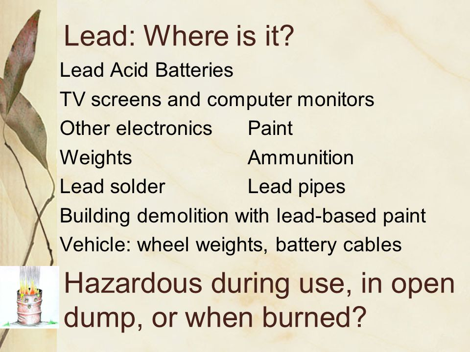 Air Transport PCBs, dioxins, and heavy metals such as mercury and lead can all travel long distances and locally.