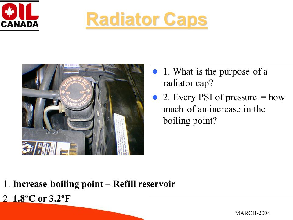 MARCH-2004Coolant 1.What is the ideal coolant mixture ratio.