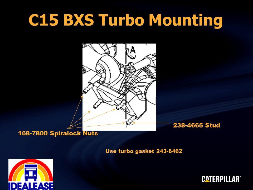 238-4665 Stud 168-7800 Spiralock Nuts Use turbo gasket 243-6462