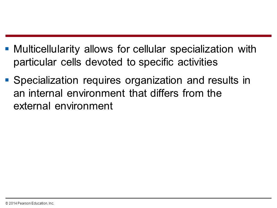 © 2014 Pearson Education, Inc.Organisms must maintain homeostasis.