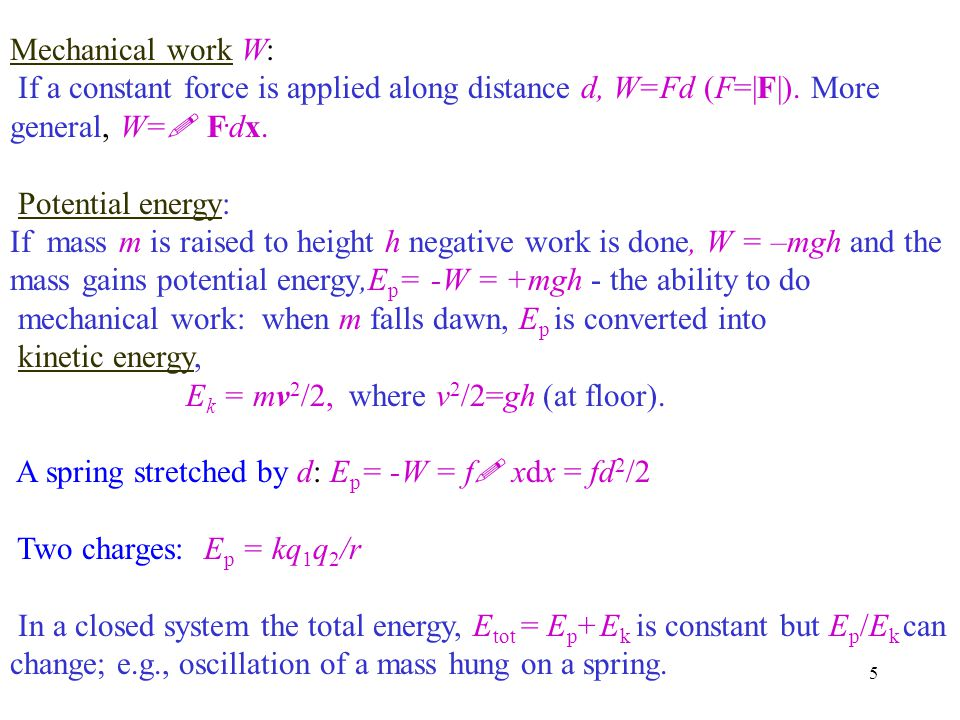 6 Linear momentum p=mv The total momentum of a system of particles is equal to the momentum of a single particle with the total mass of the system moving with the velocity of the center of mass of the system, v CM v CM = Σm i v i / Σm i In a system with no external forces the total momentum is conserved - the center of mass moves in a straight line with constant speed.