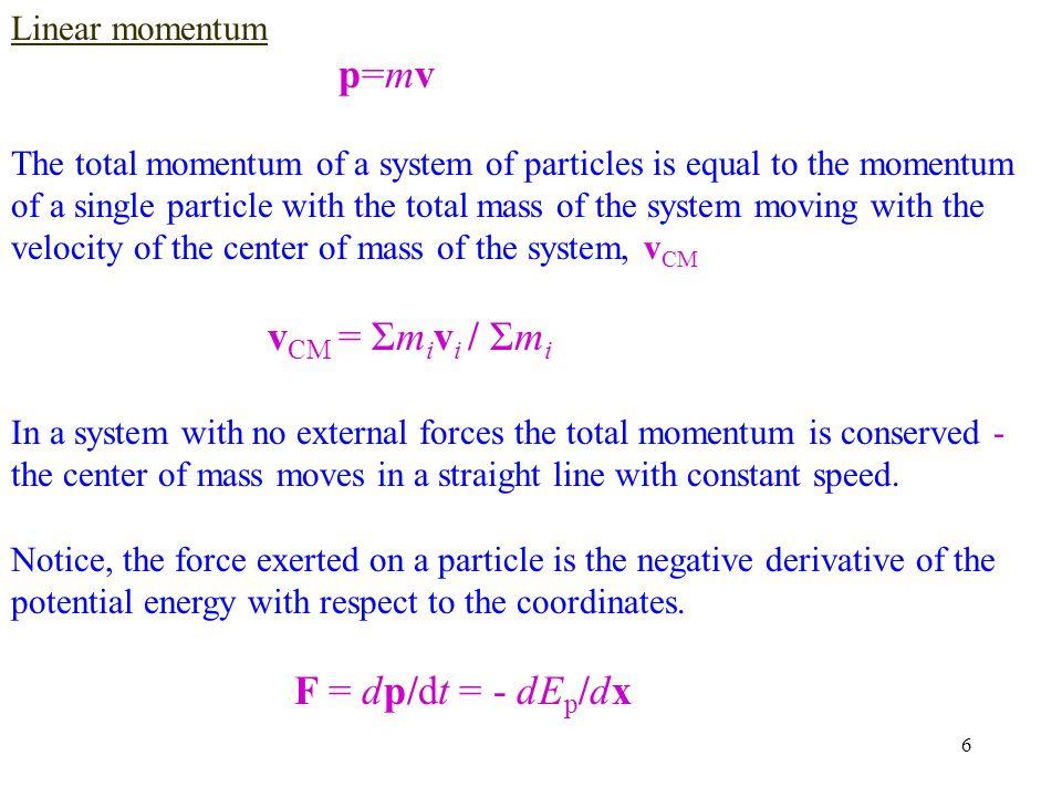 17 Movie 216 argon atoms run by velocity Verlet algorithm at constant energy (NVE).