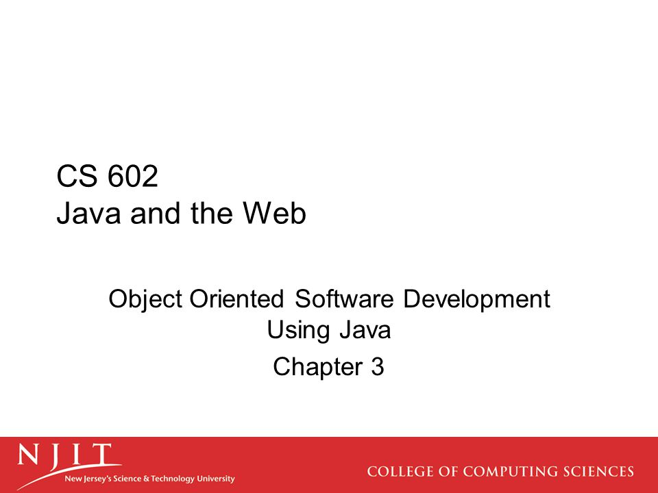 Chapter Overview Chapter 3 is an introduction to the Java language.