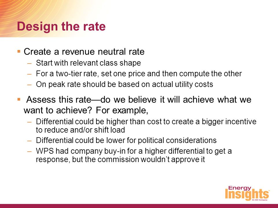 Examples of TOU rates