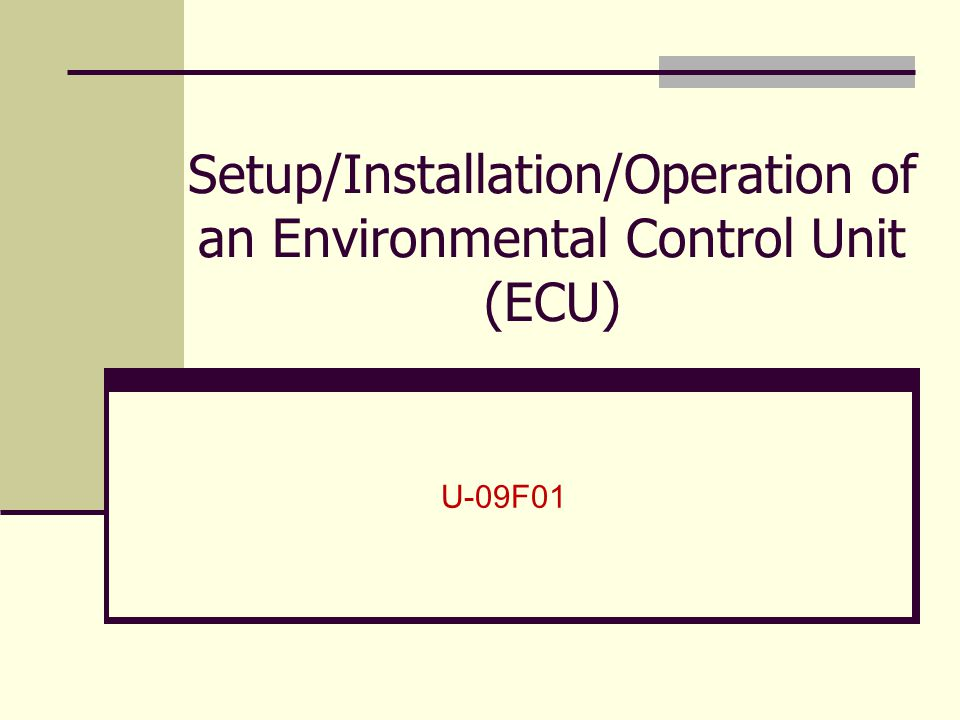 Overview Characteristics Set-Up and Installation Operations 2