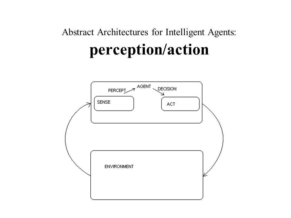 Abstract Architectures for Intelligent Agents: perception/action