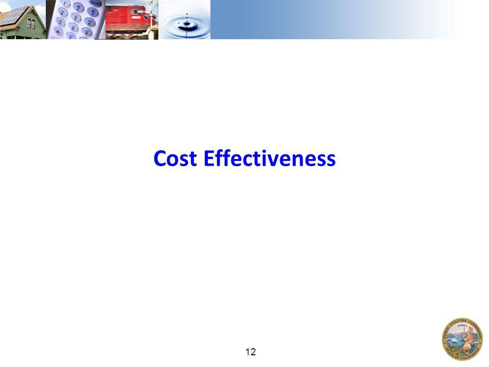 12 Cost Effectiveness