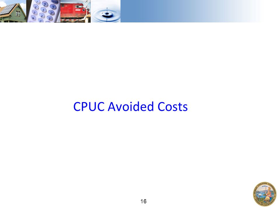 16 CPUC Avoided Costs