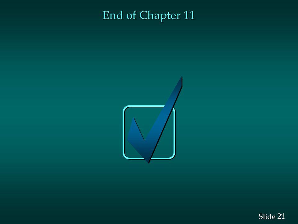 21 Slide End of Chapter 11