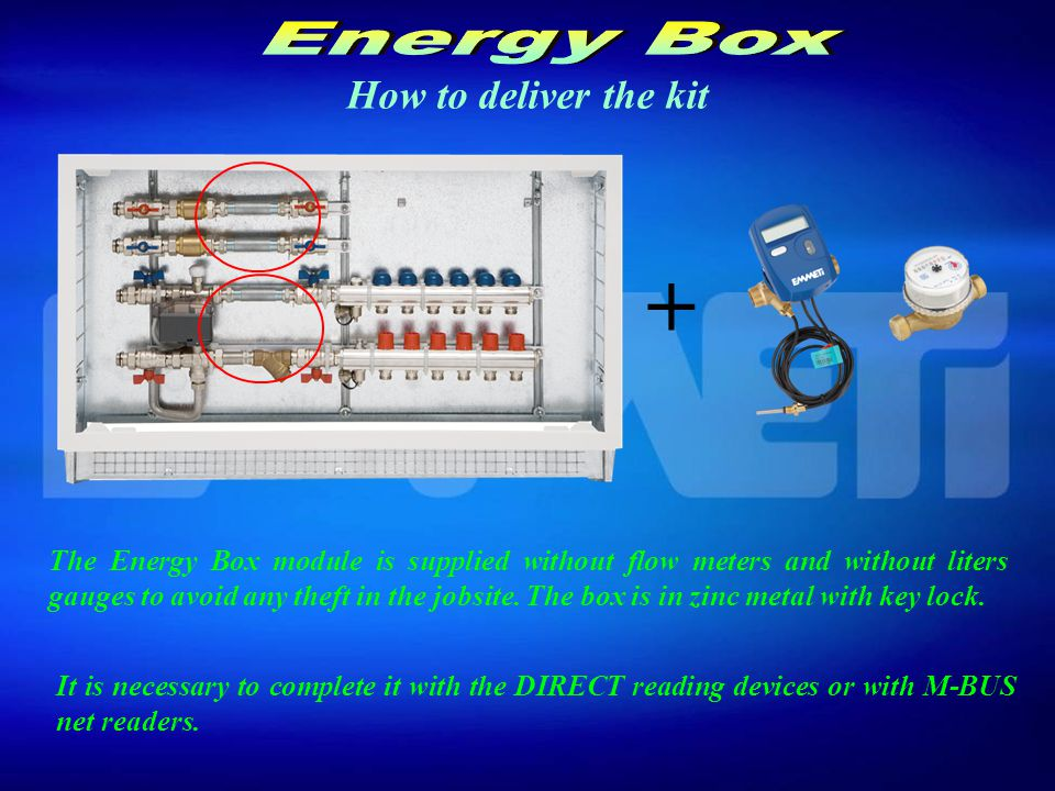 Components and operation The motorized 4 ways valves it is operated by a room thermostat.