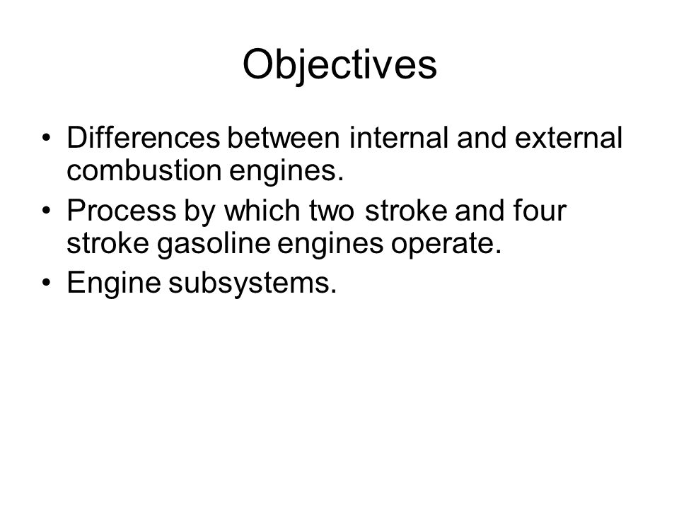 Introduction Over a 100 years ago, internal combustion engines began to replace external combustion engines (steam engines) as the major source of power.