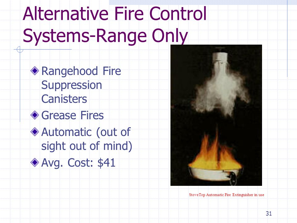 "30 Alternative Fire Control Systems ""Home Fireman"" Water hose to put out small ordinary fires 90 linear ft of coverage Easy install Avg. Cost: $220 /"