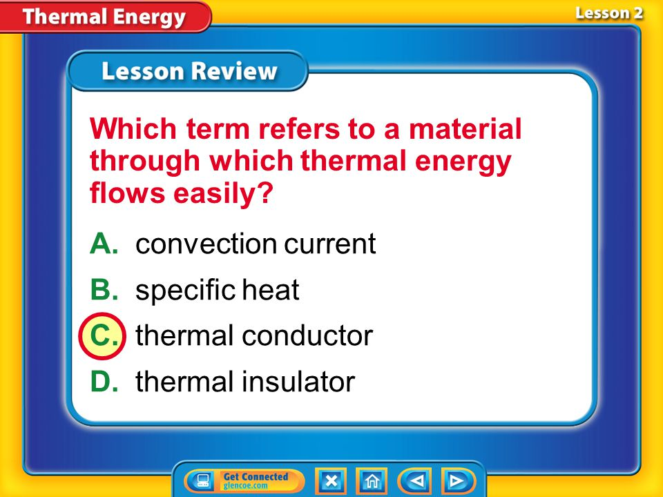 Lesson 2 - VS When a material is heated, the thermal energy of the material increases and the material expands.