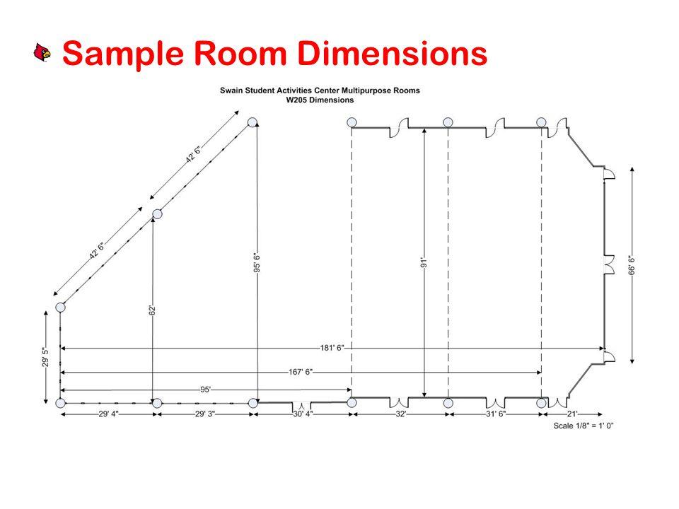 Sample Room Dimensions