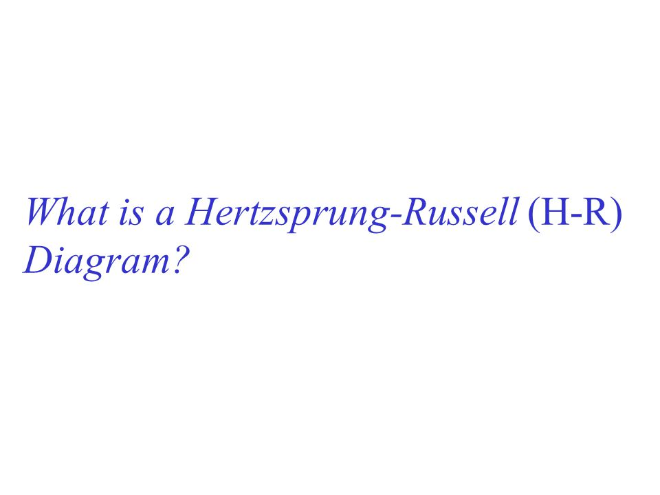 What is a Hertzsprung-Russell (H-R) Diagram?
