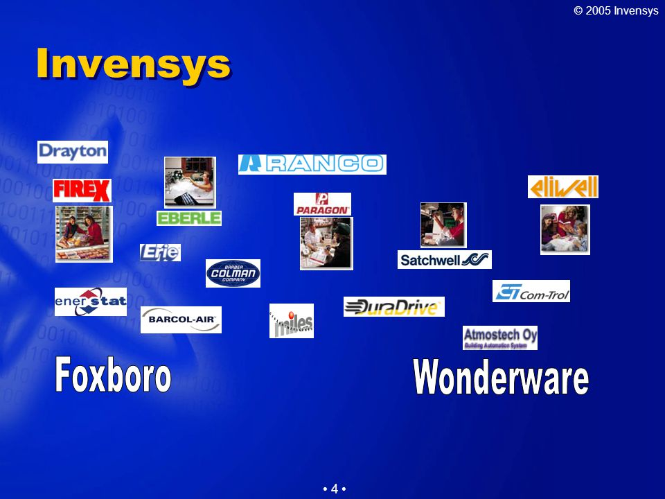 © 2005 Invensys 4 Invensys