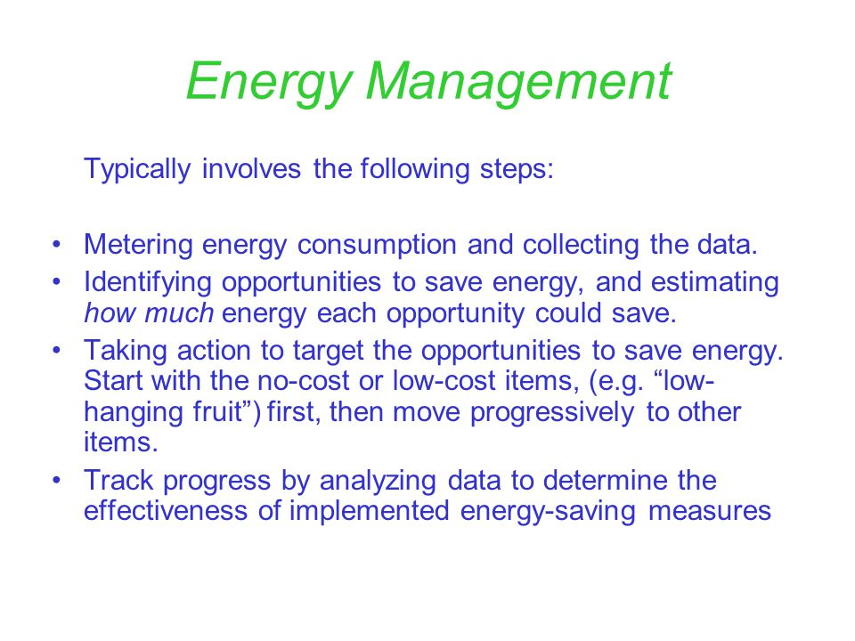 Energy Management Why is it important.