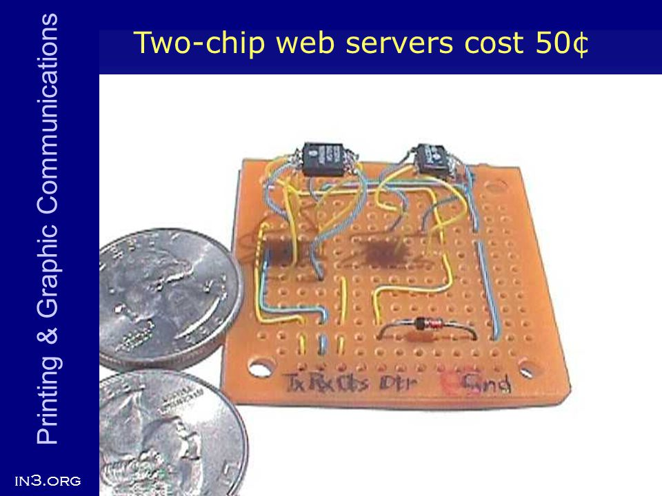 Printing & Graphic Communications in3.org 12 Two-chip web servers cost 50¢