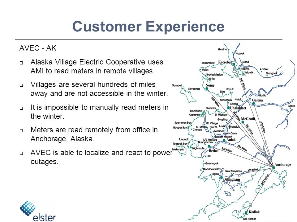 AVEC - AK  Alaska Village Electric Cooperative uses AMI to read meters in remote villages.