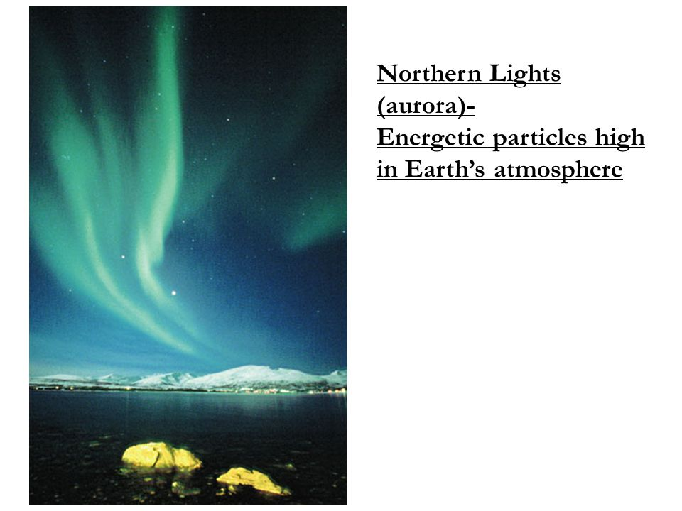Northern Lights (aurora)- Energetic particles high in Earth's atmosphere