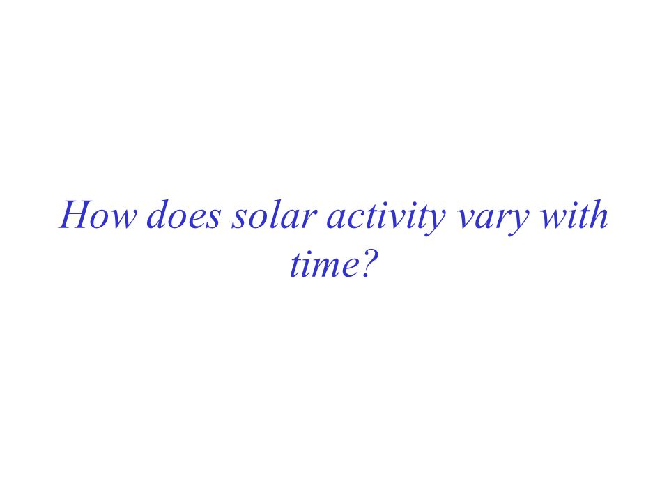 How does solar activity vary with time?