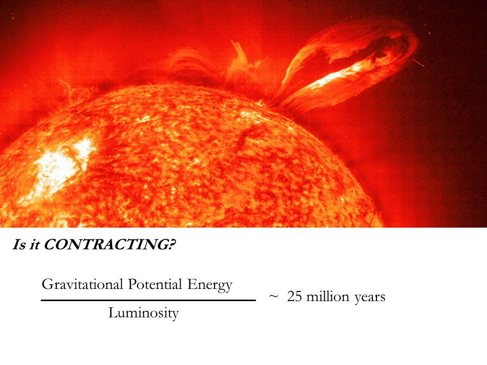 Luminosity Gravitational Potential Energy Is it CONTRACTING? ~ 25 million years