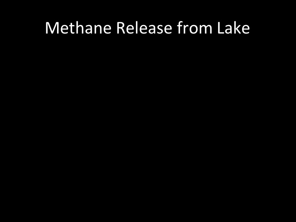 Methane Release from Lake