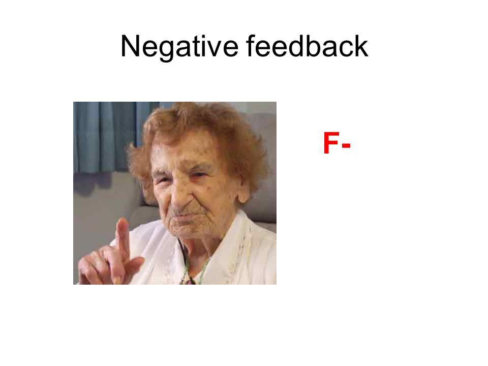 Negative feedback F-