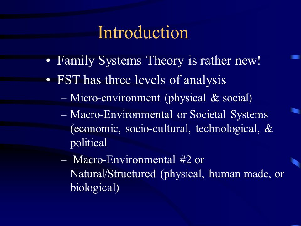 Family Theories Advanced Family Relations October 31, 2000