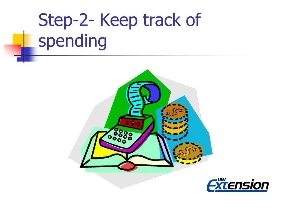 Step-2- Keep track of spending