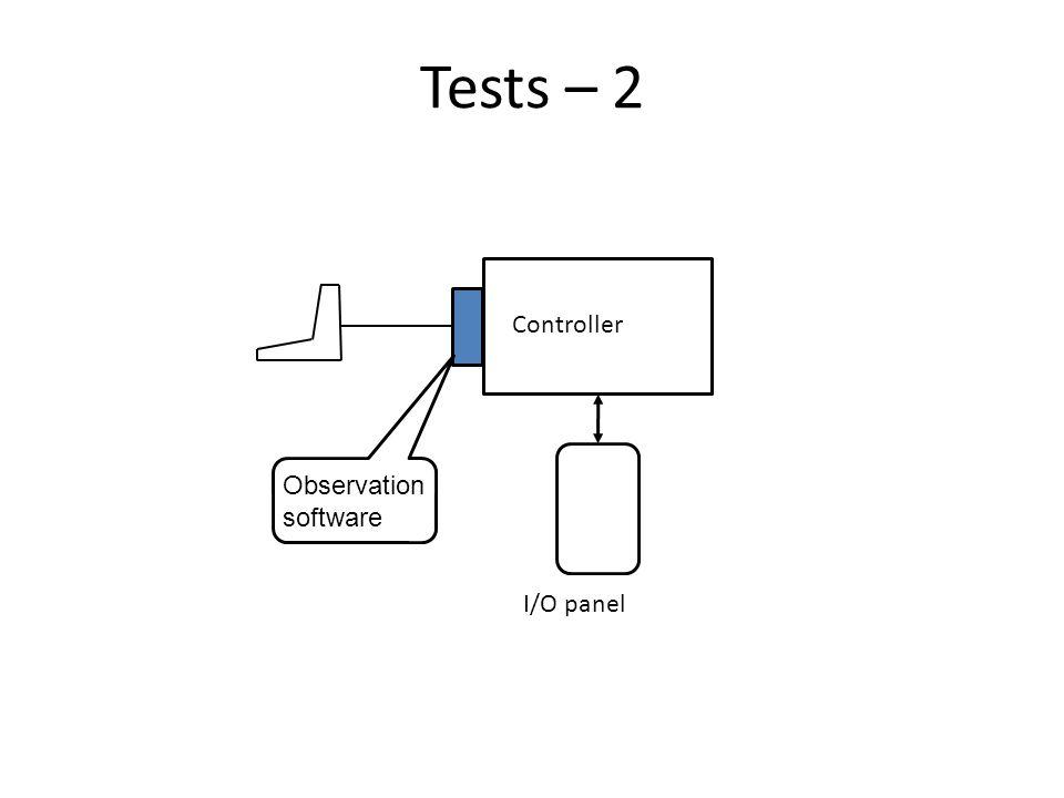 Tests – 2 Controller I/O panel Observation software