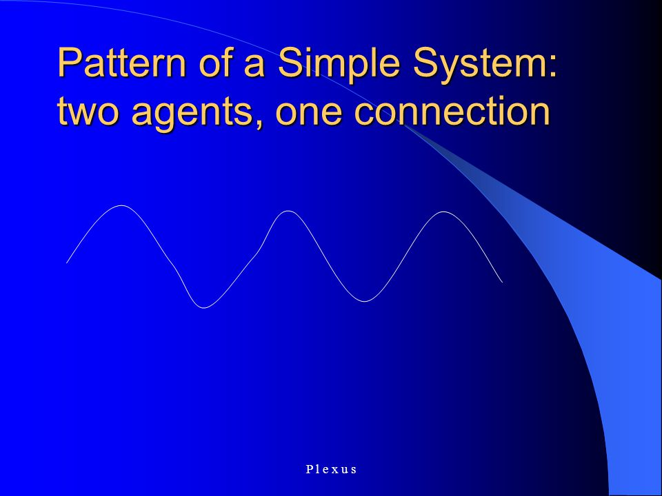 P l e x u s Pattern of a Simple System: two agents, one connection