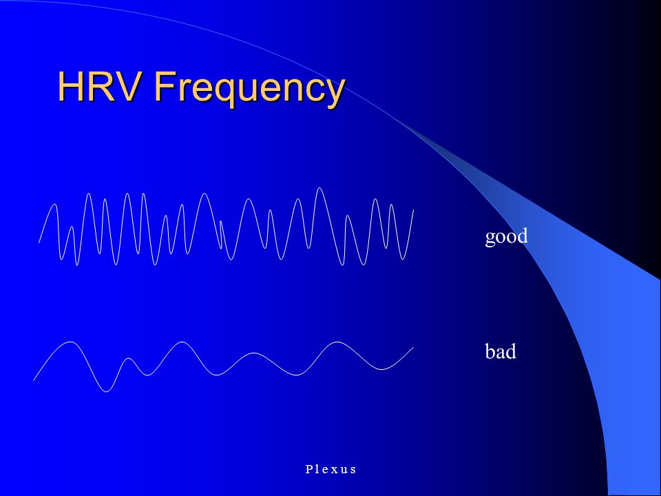 P l e x u s HRV Frequency good bad