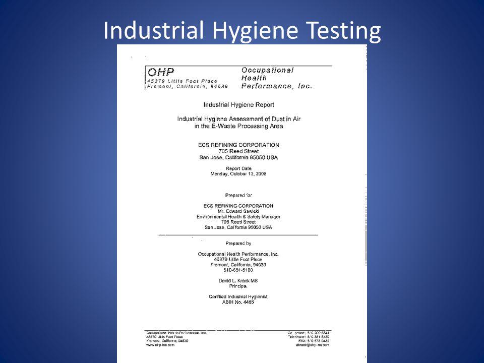 Industrial Hygiene Testing