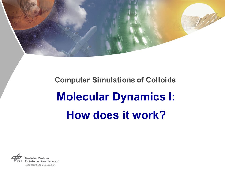 Computer Simulations of Colloids Molecular Dynamics I: How does it work?