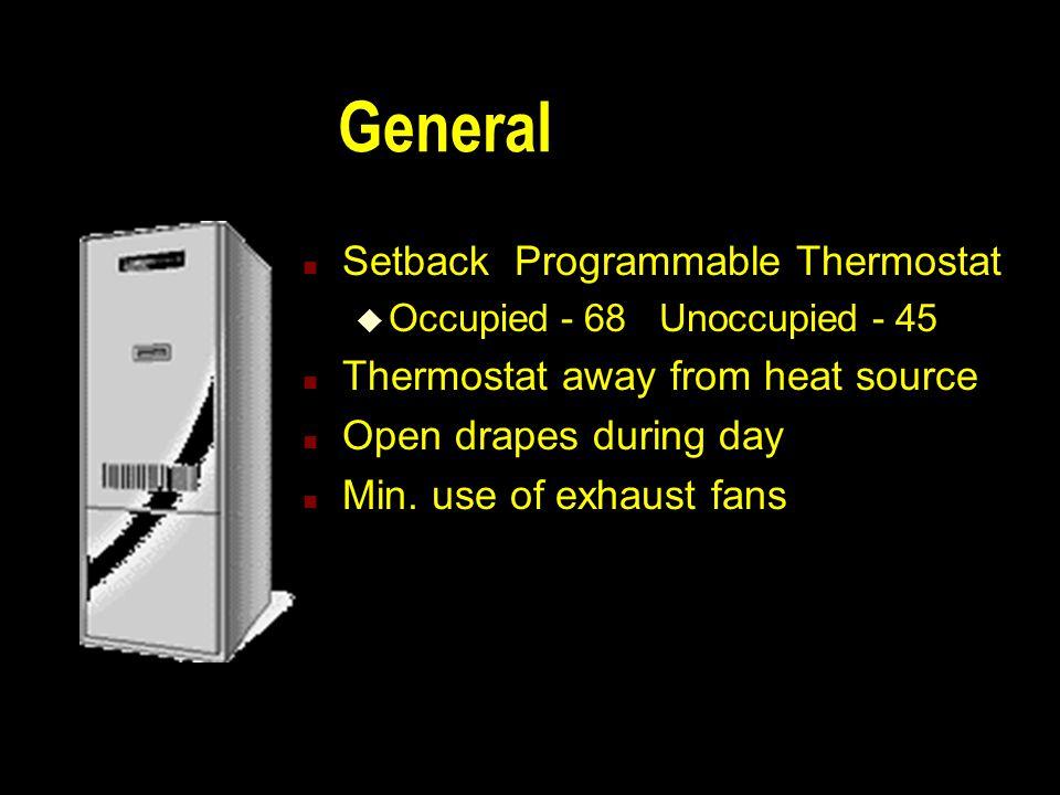 Space Heating Options n General n Forced Air-Gas n Forced Air - Oil n Hot Water n Electric