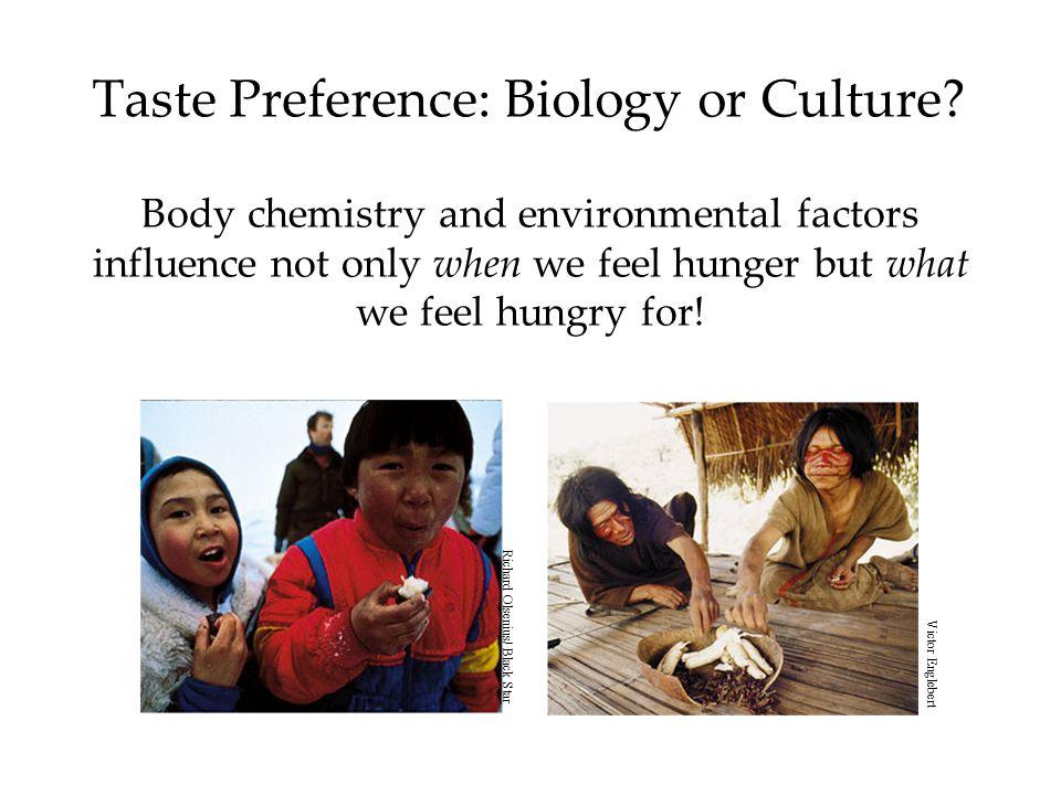 Taste Preference: Biology or Culture.