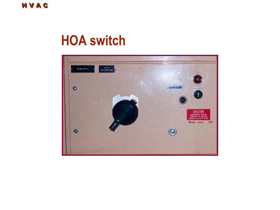 HOA switch H V A C